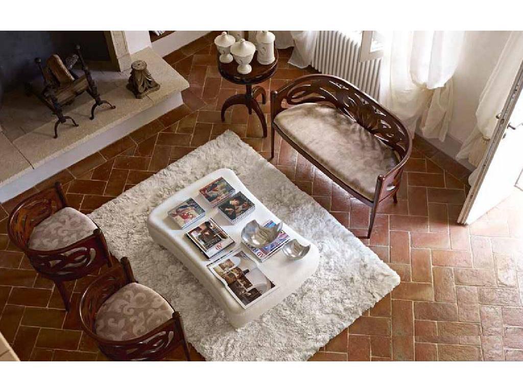 Volpi: Giorno: диван Rosetta  дерево class 4. ткань cat.B