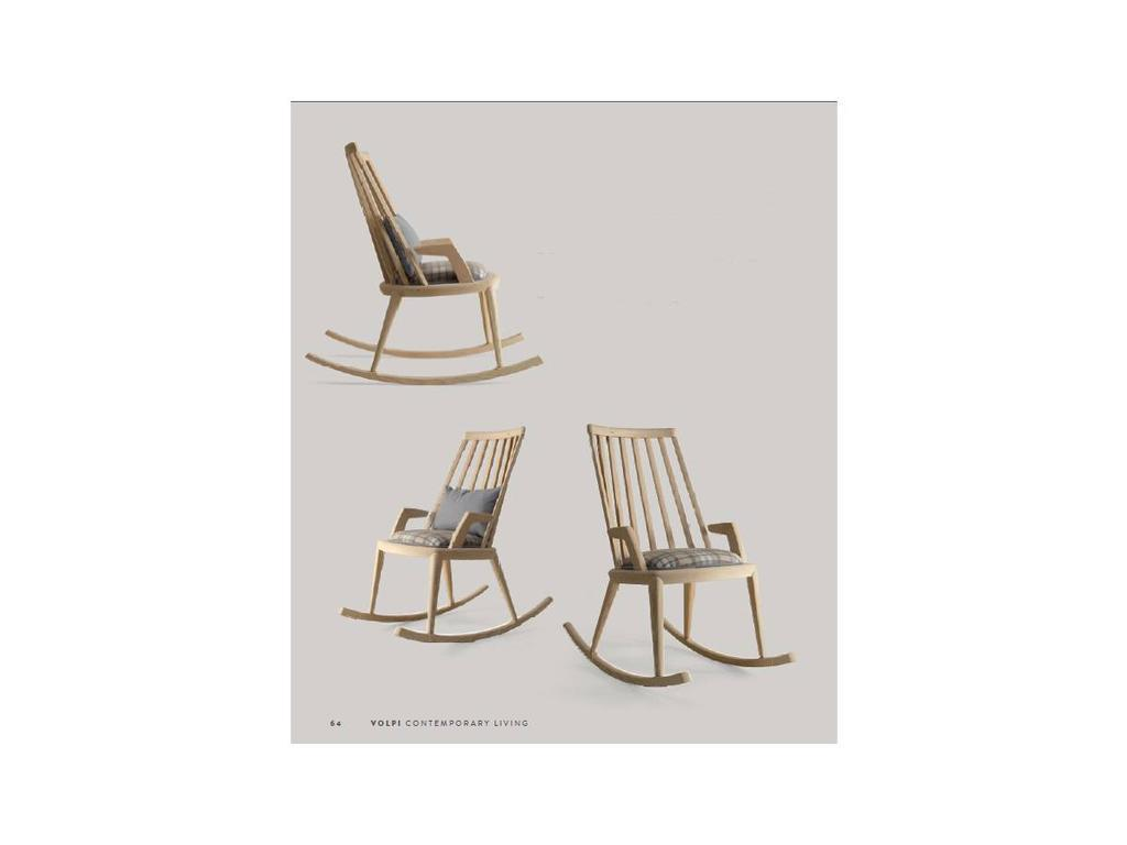 Volpi: Contemporary: кресло-качалка Bess  (ясень)