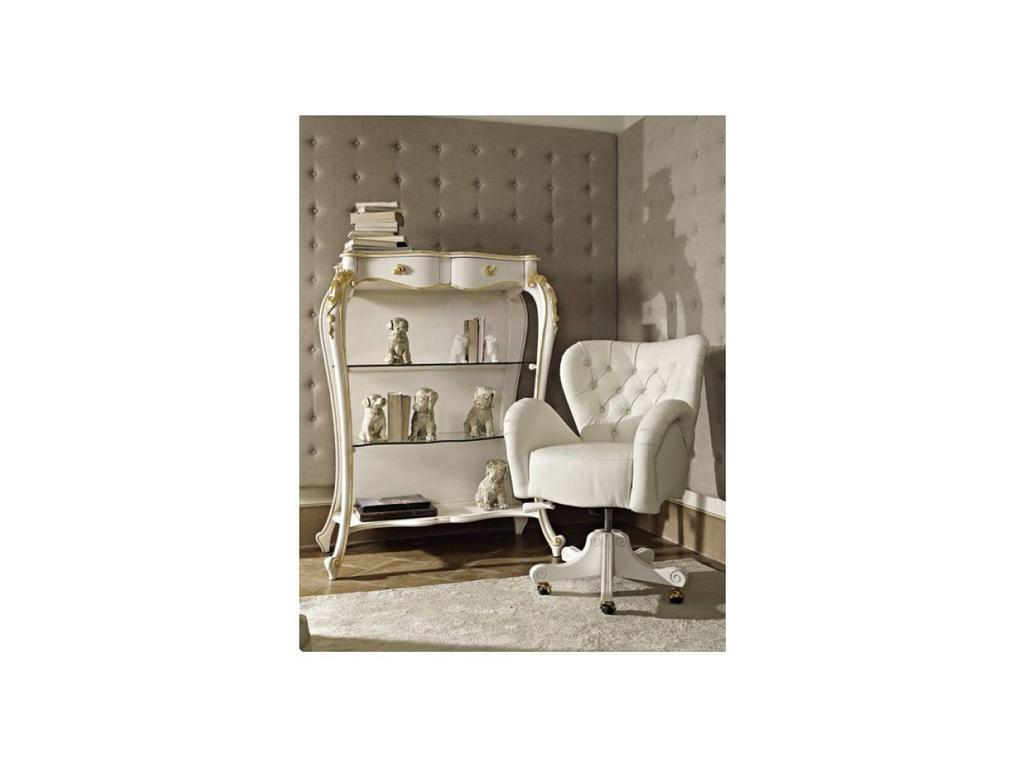 Volpi: Giorno: кресло вращающееся Capri  дерево class 3, кожа