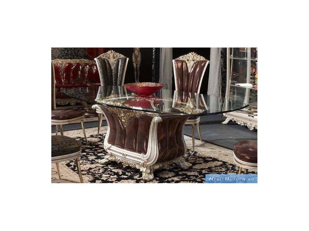 Vidal Gold: Versailles: стол обеденный (слоновая кость)