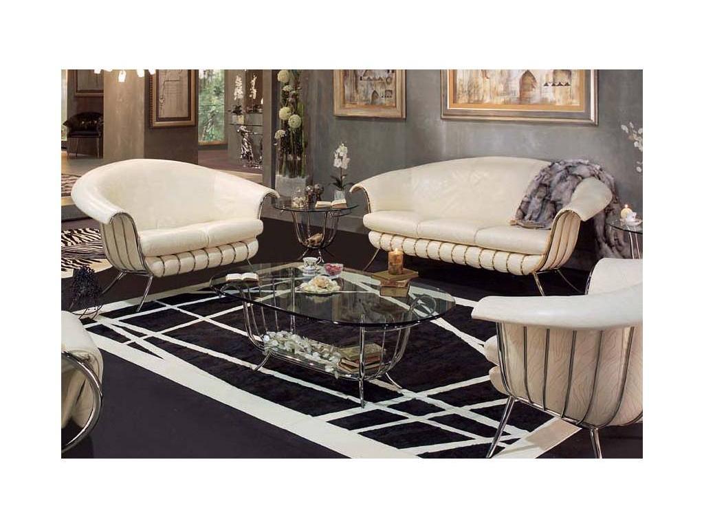 Vidal Gold: Bali: стол журнальный (серебряный)