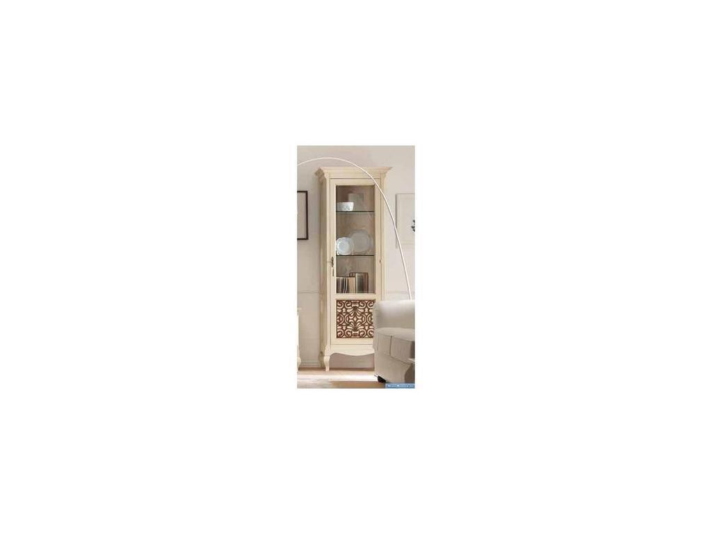 V. Villanova: Капри: витрина 1 дверная   правая (Bicolore(Bianco +cilegio)