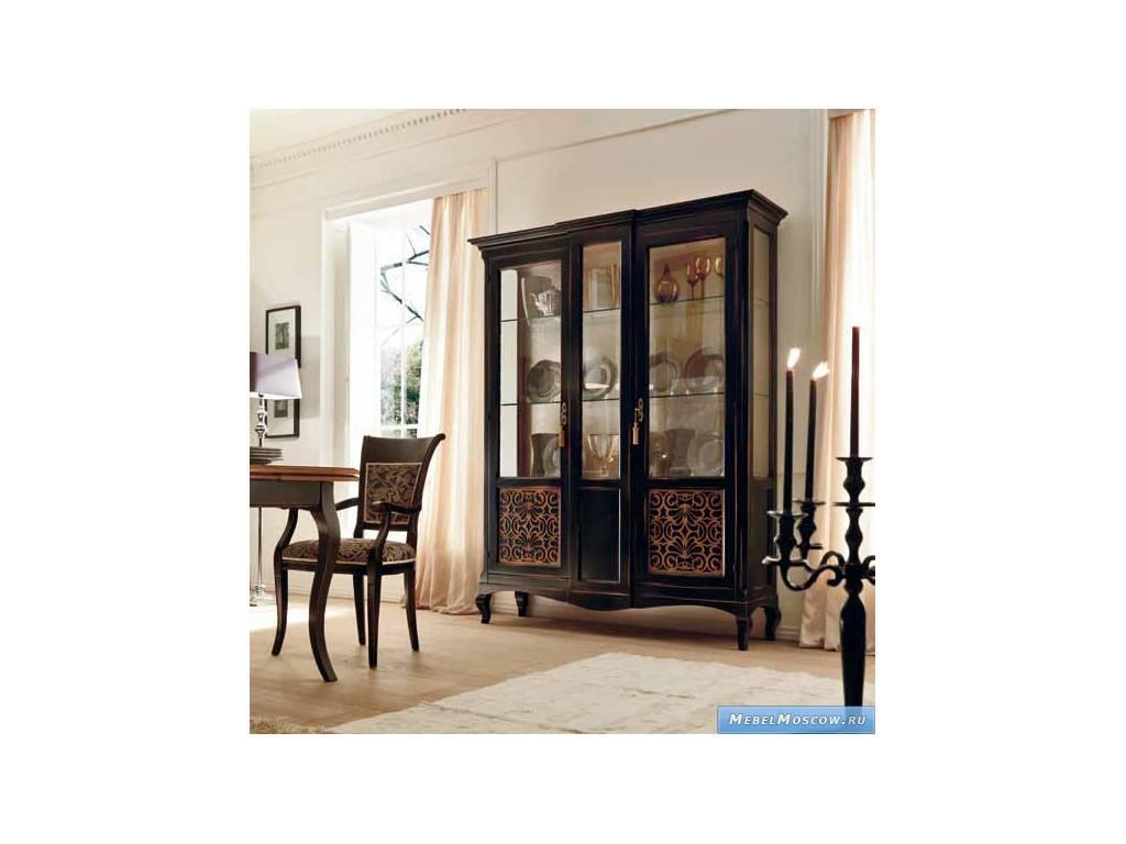 V. Villanova: Капри: витрина 2-х дверная большая  (Bicolore(Moka +cilegio)