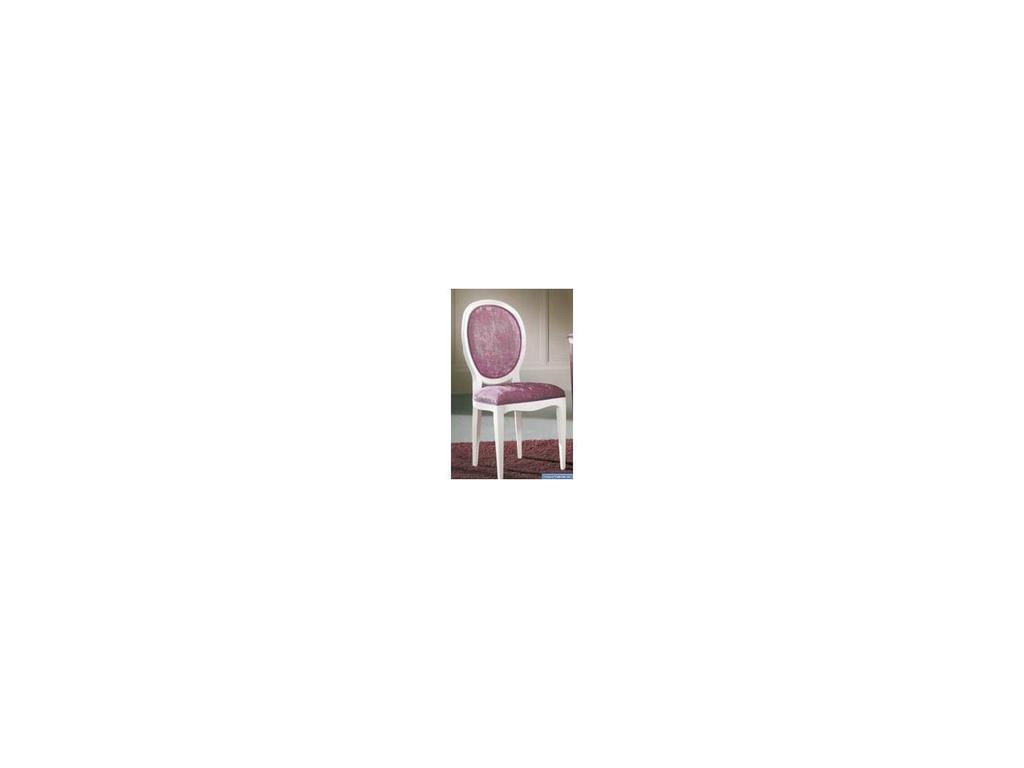 V. Villanova: стул овальный обитый тканью  (Bianco madeira)