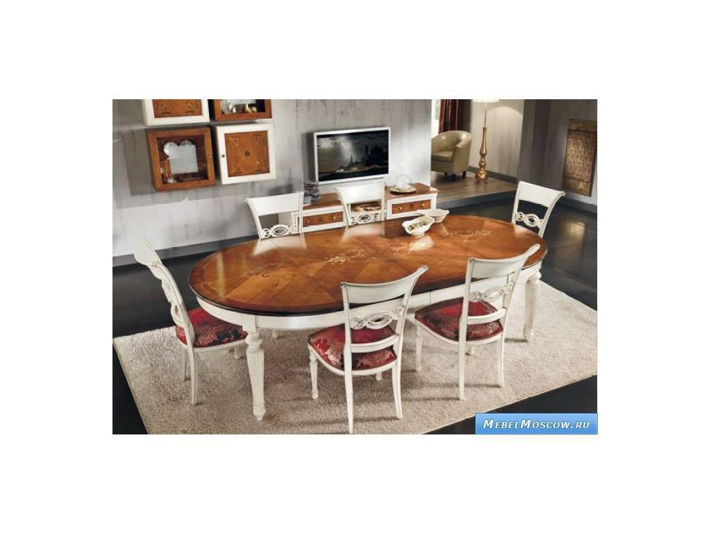 V. Villanova: стол обеденный раскладной  (bianco+cilegio)