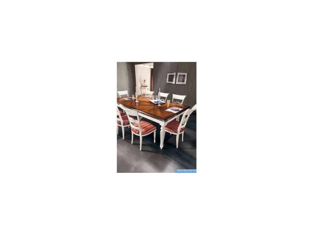V. Villanova: стол обеденный прямоугольный 240х128  (bianco+cilegio)