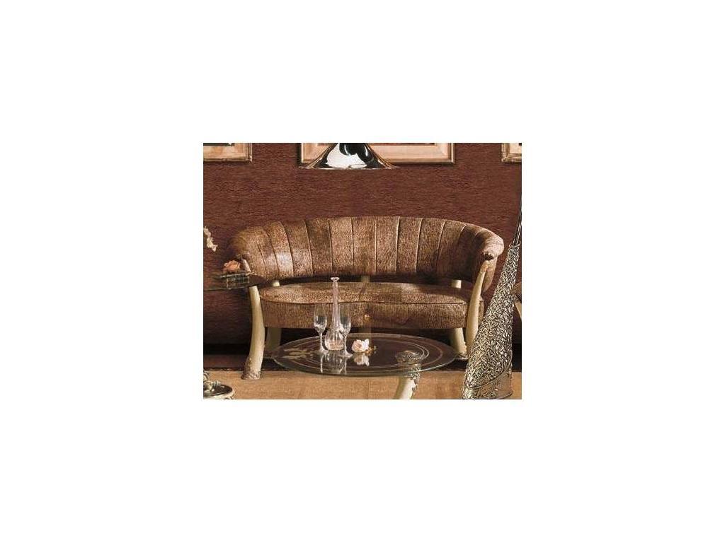Vidal Gold: Kenya: диван 2-м (слоновая кость, коричневый)