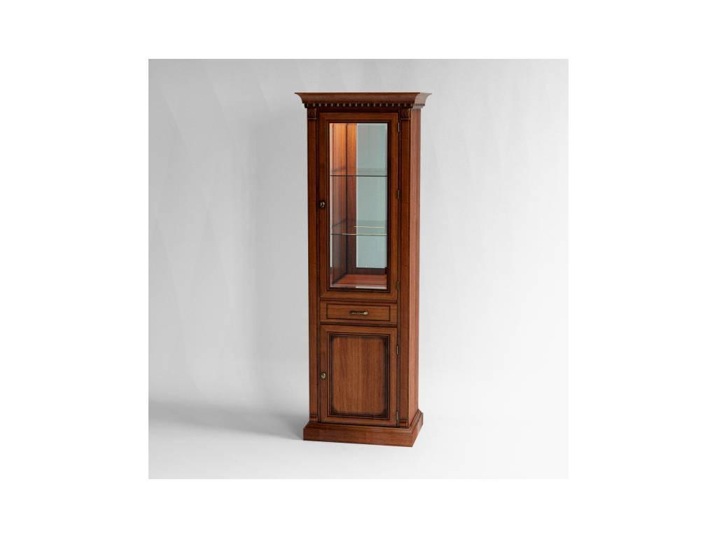 Liberty: Венеция: витрина  1 дверная с подсветкой правая (вишня)