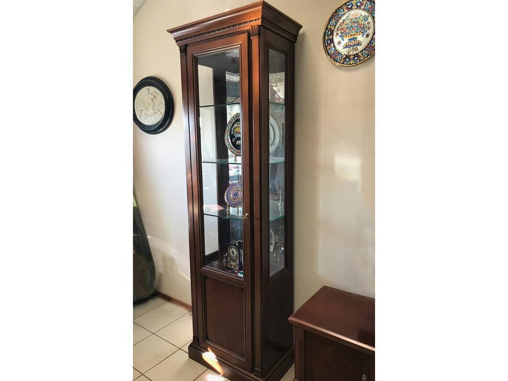 Liberty: Венеция: витрина  1 дверная с подсветкой левая (вишня)