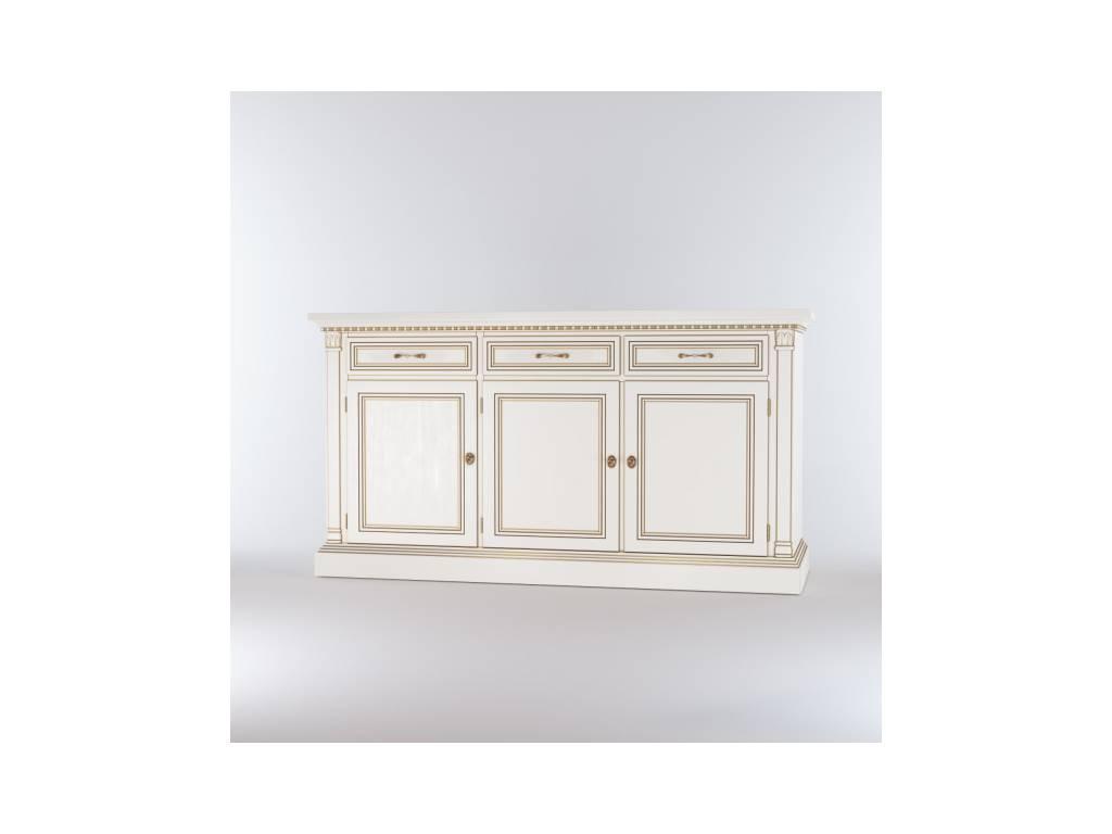 Liberty: Венеция: комод 3-х дверный 3 ящика  (белый)