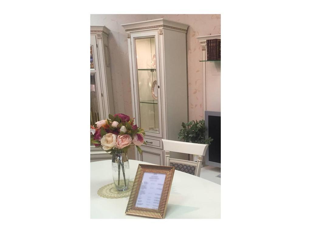 Liberty: Венеция: витрина 1 дверная  с подсветкой левая (белая)