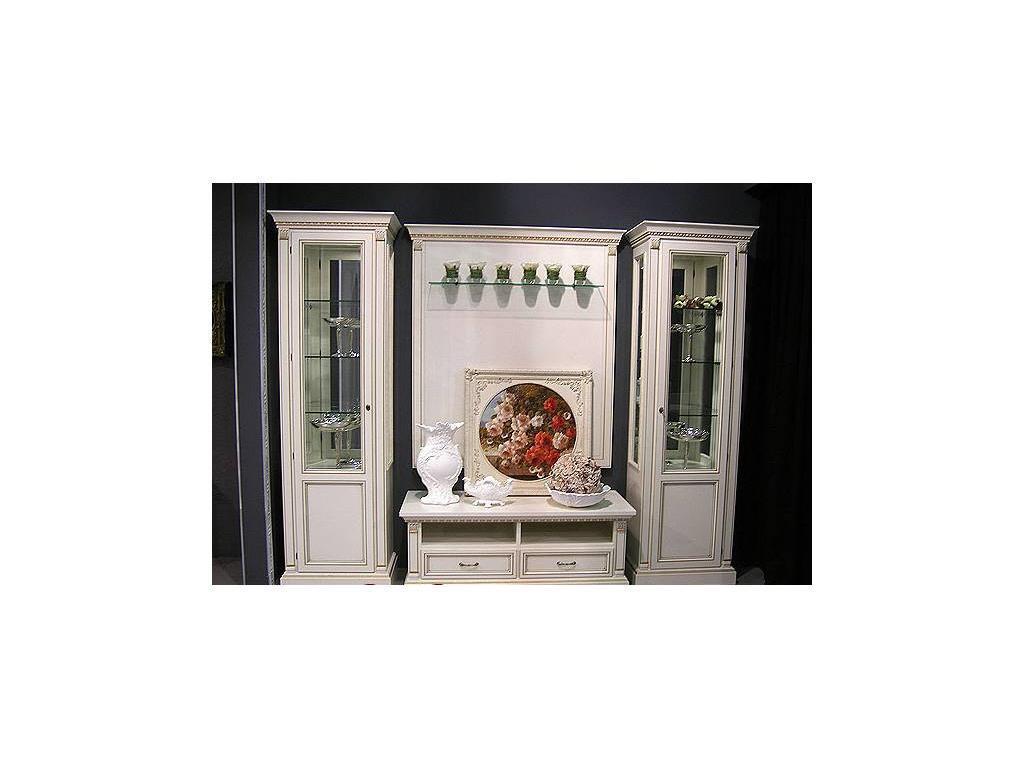 Liberty: Флоренция: витрина 1 дверная  с подсветкой правая (белая)