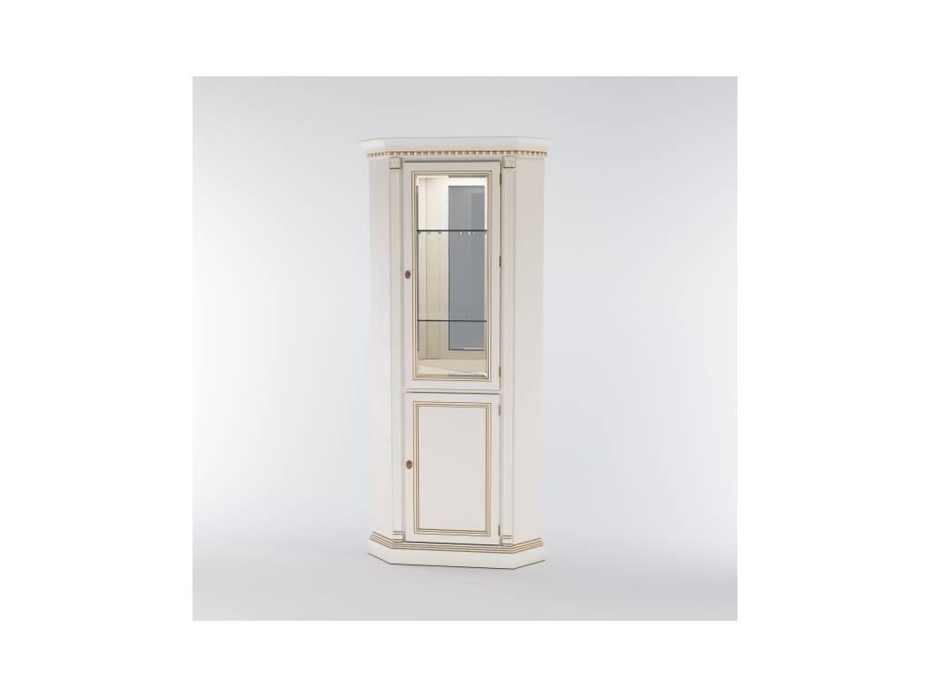 Liberty: Венеция: витрина угловая  с подсветкой (белая)