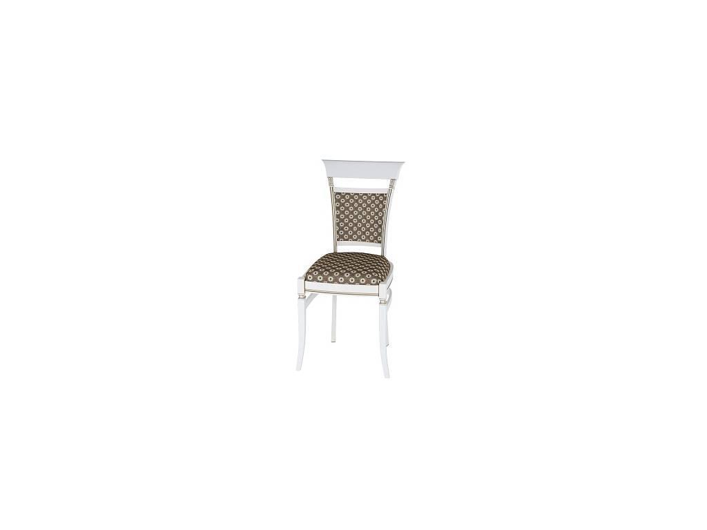Liberty: Венеция: стул  ткань коричневая с золотом (белый)