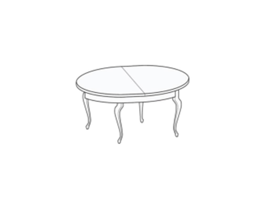 Liberty: Сан-Ремо: стол обеденный  раскладной (белый)