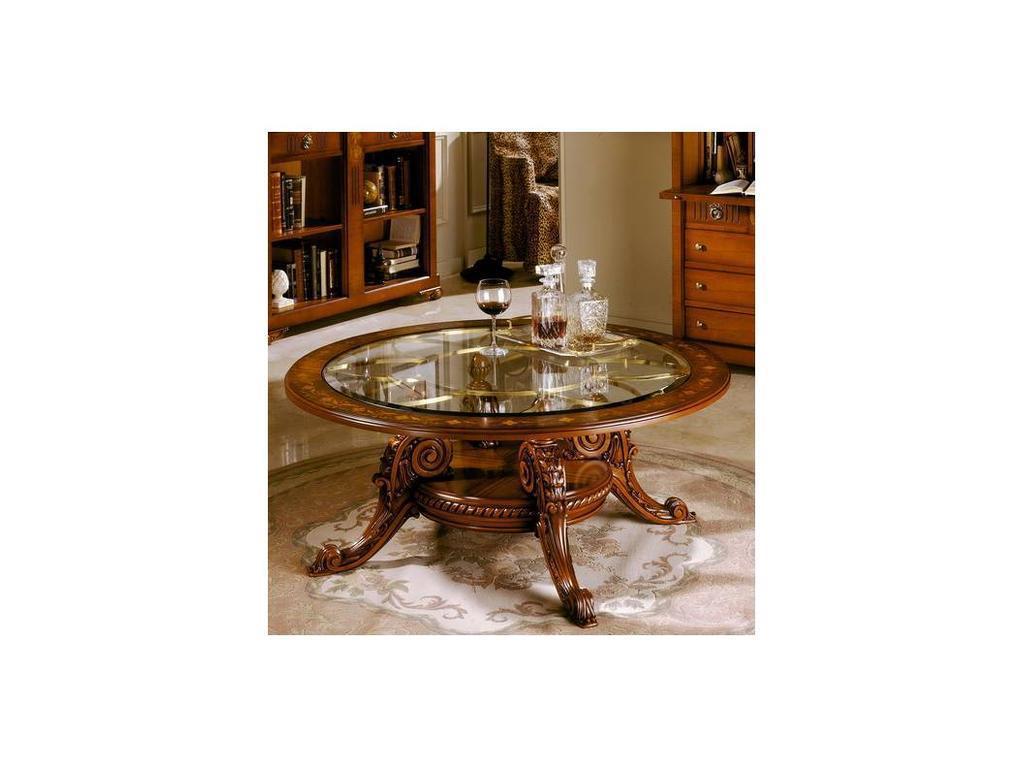 Solomando: стол журнальный  (орех, золото)