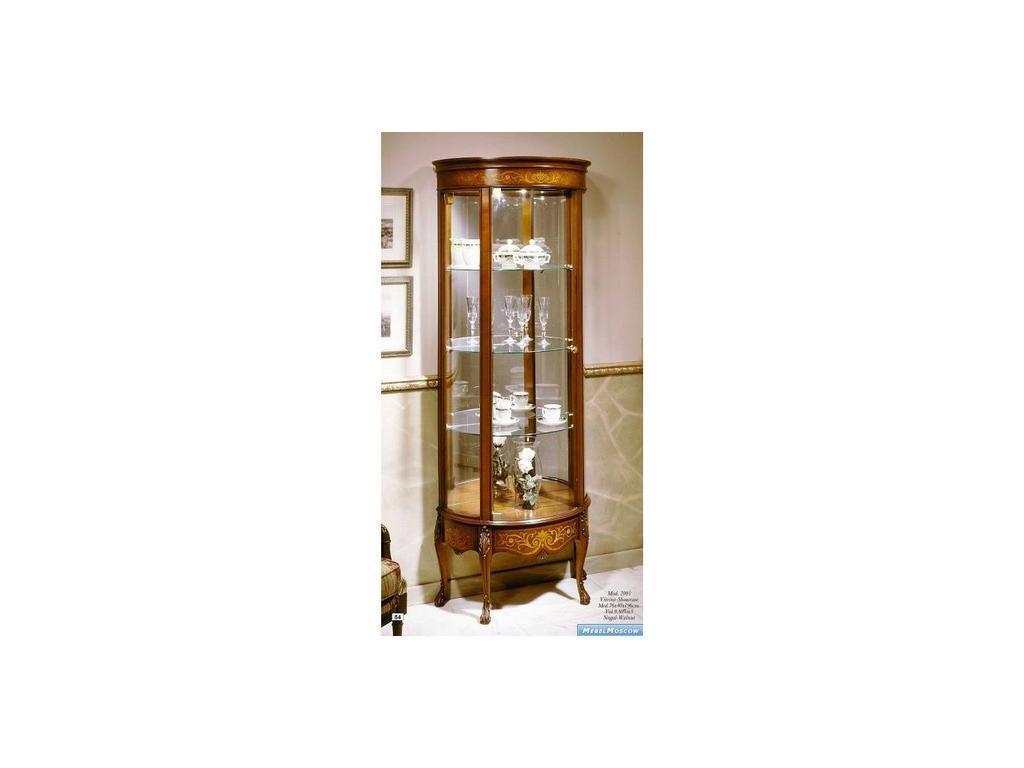 Solomando Соломандо: витрина  1-дверная левая (орех, золото)