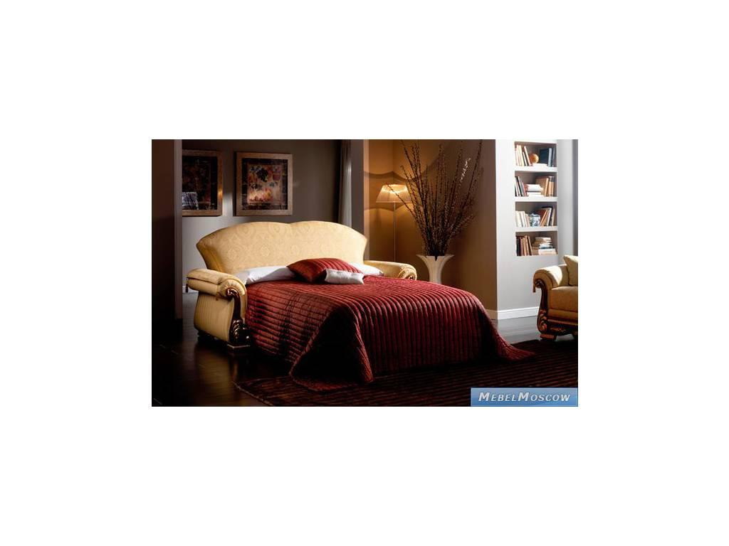 Solomando Соломандо: диван 3-х местный раскладной  ткань Esmalte Rayas Dore (орех, золото)