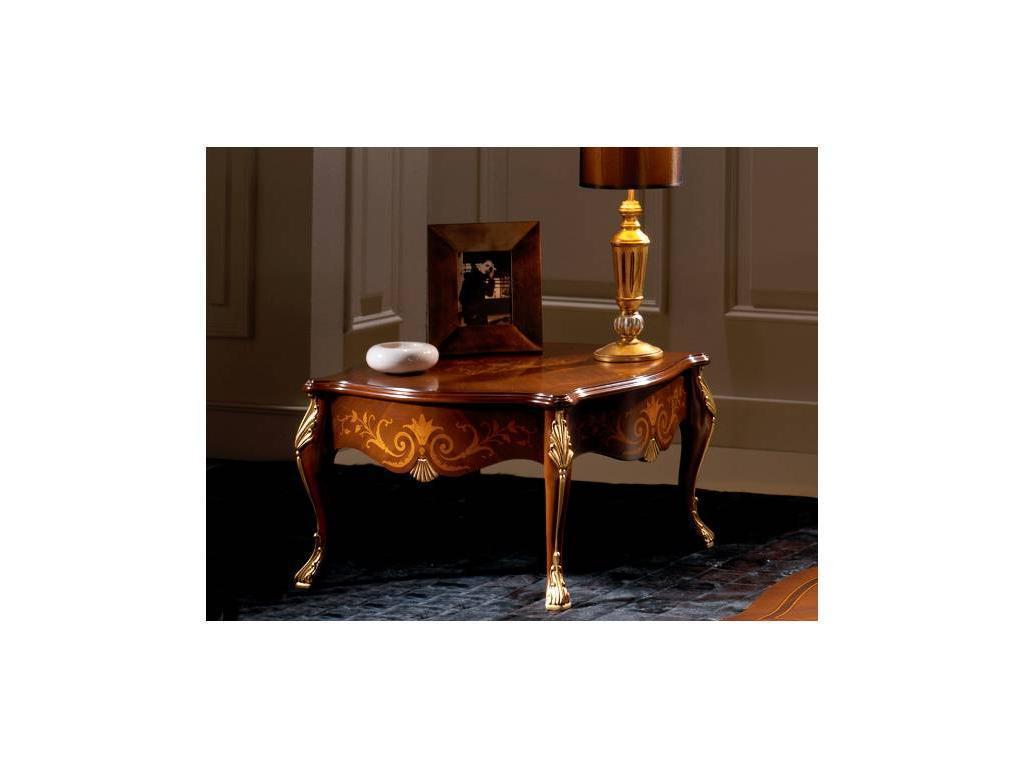Solomando Соломандо: стол журнальный  (орех, золото)