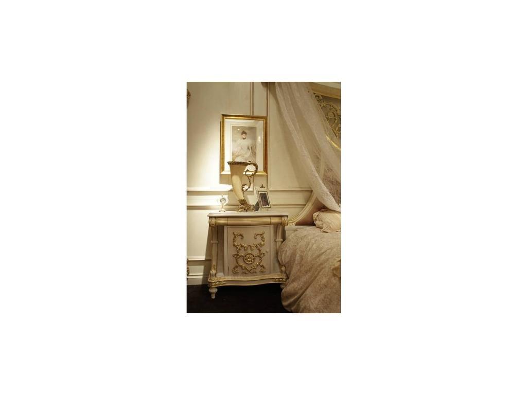 Carpenter: Love Collection: тумба прикроватная  (белый, золото)