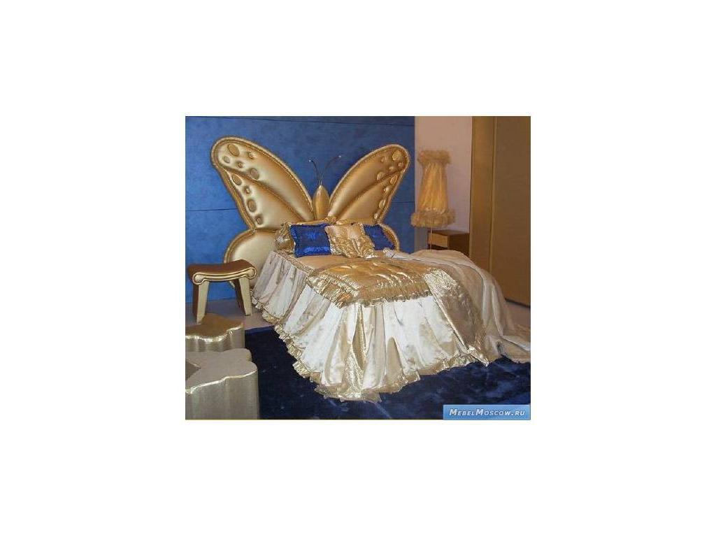 Marys: Lulu: кровать детская 120х200  ткань (золотой)