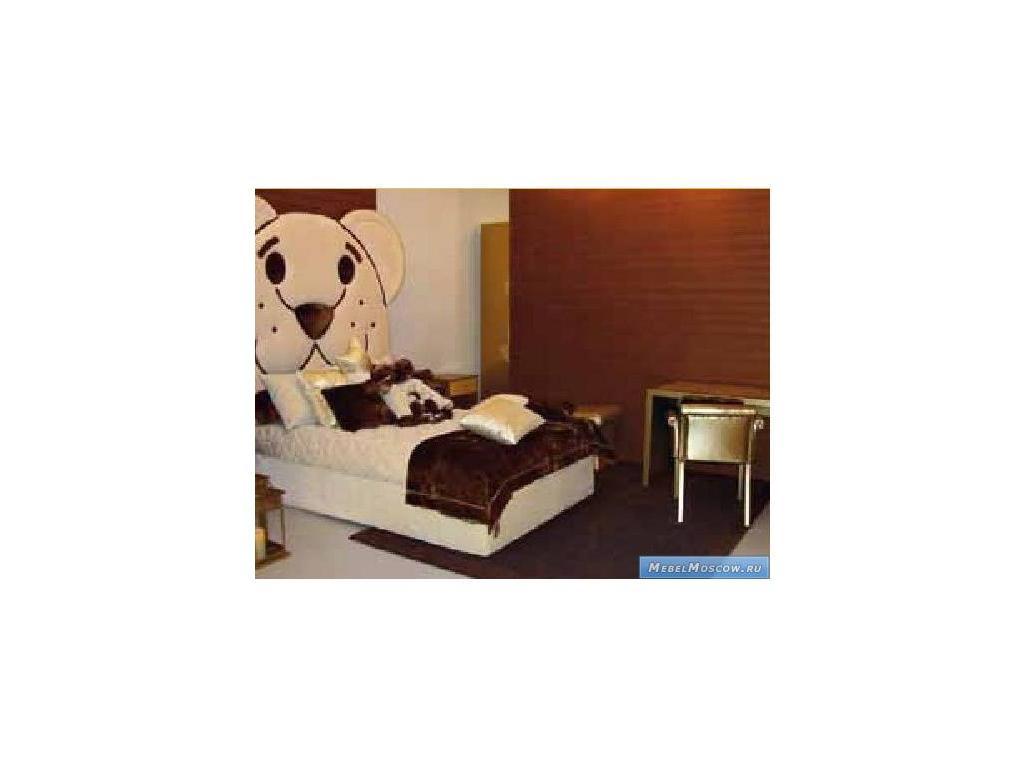 Marys: Axel: кровать детская 120х200  кожа (беж)
