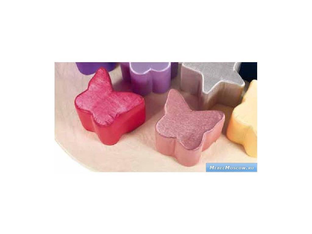 Marys: Bramea: пуф  ткань (розовый)