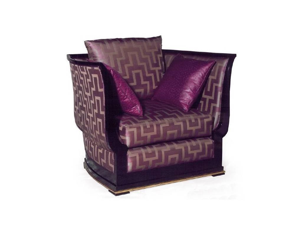 Epoca: Maxima collection: кресло Navarin  ткань (черный, золото)