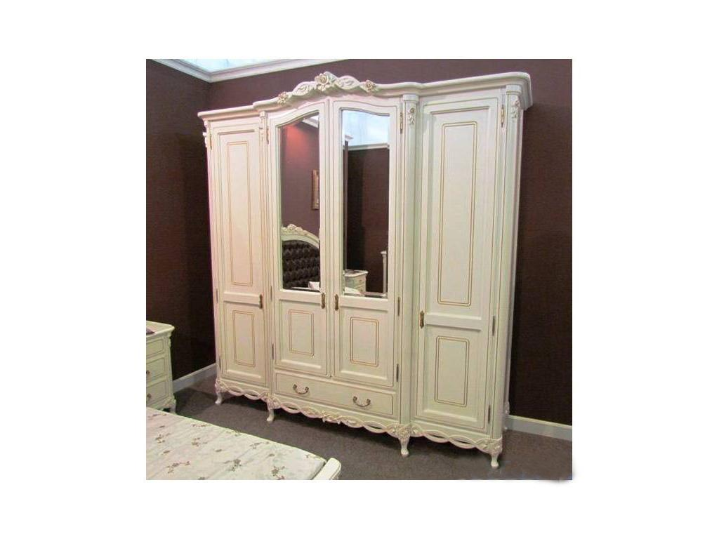 Simex: Флора: шкаф 4-х дверный (слоновая кость)