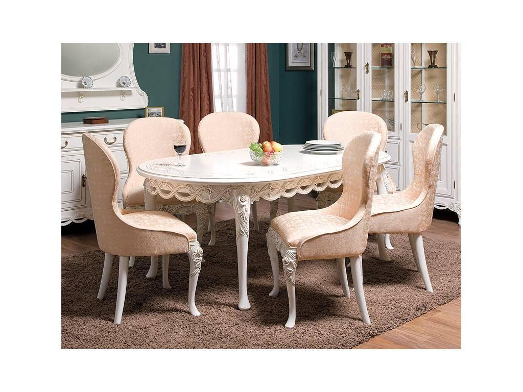 Simex: Флора: стол обеденный раскладной (слоновая кость)