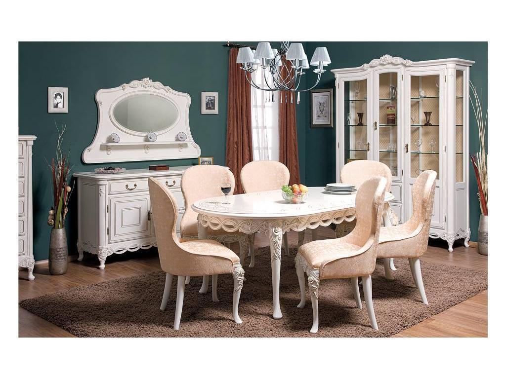 Simex: Флора: гостиная с овальным столом (слоновая кость)