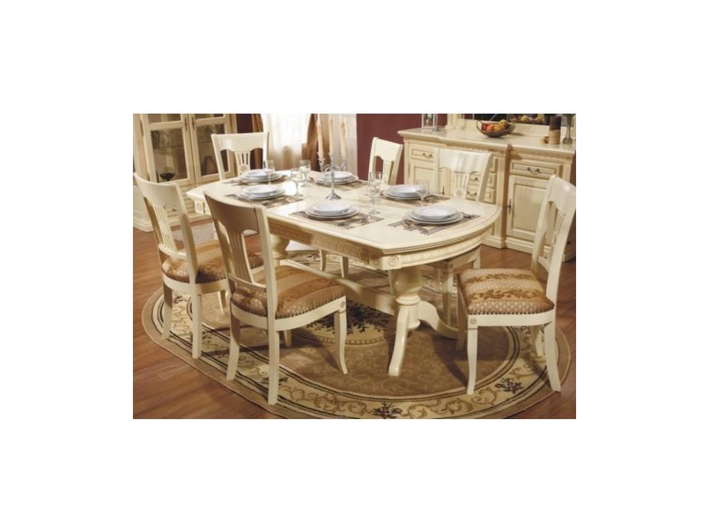 Simex: Венеция: стол обеденный раскладной (крем)