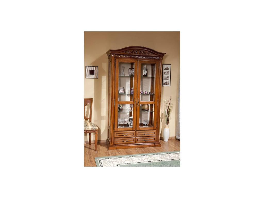 Simex: Венеция: витрина 2-х дверная (орех)