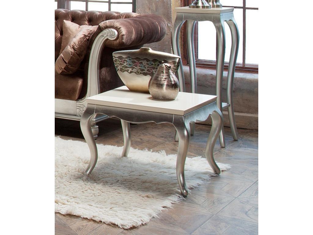 Fratelli Barri: Venezia: стол журнальный  (серебро, кремовый лак)
