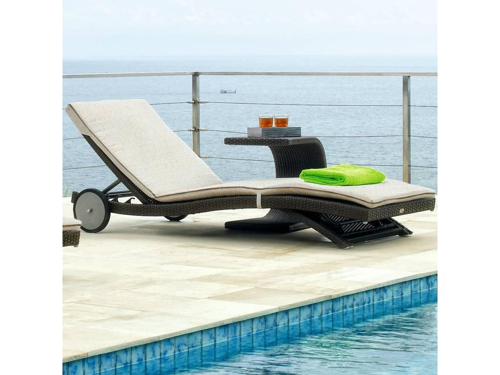 Skylinedesign: Shopie: стол для шезлонга со стеклом  (MOCCA)