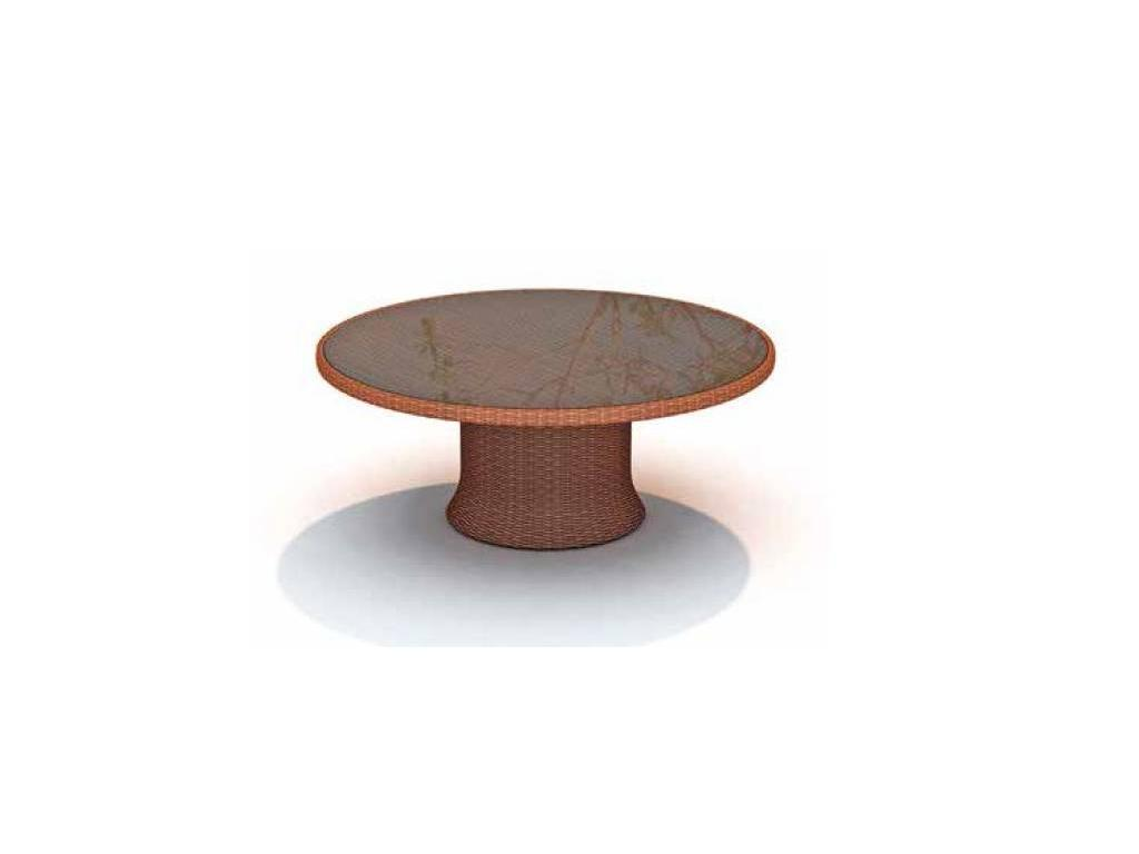 Skylinedesign: Ebony: стол обеденный круглый со стеклом  (RED PULUT)