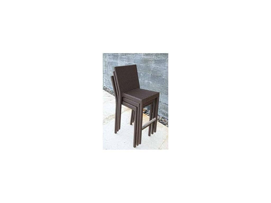 Skylinedesign: Opal: стул барный с подушкой  (MOCCA/SILVER)