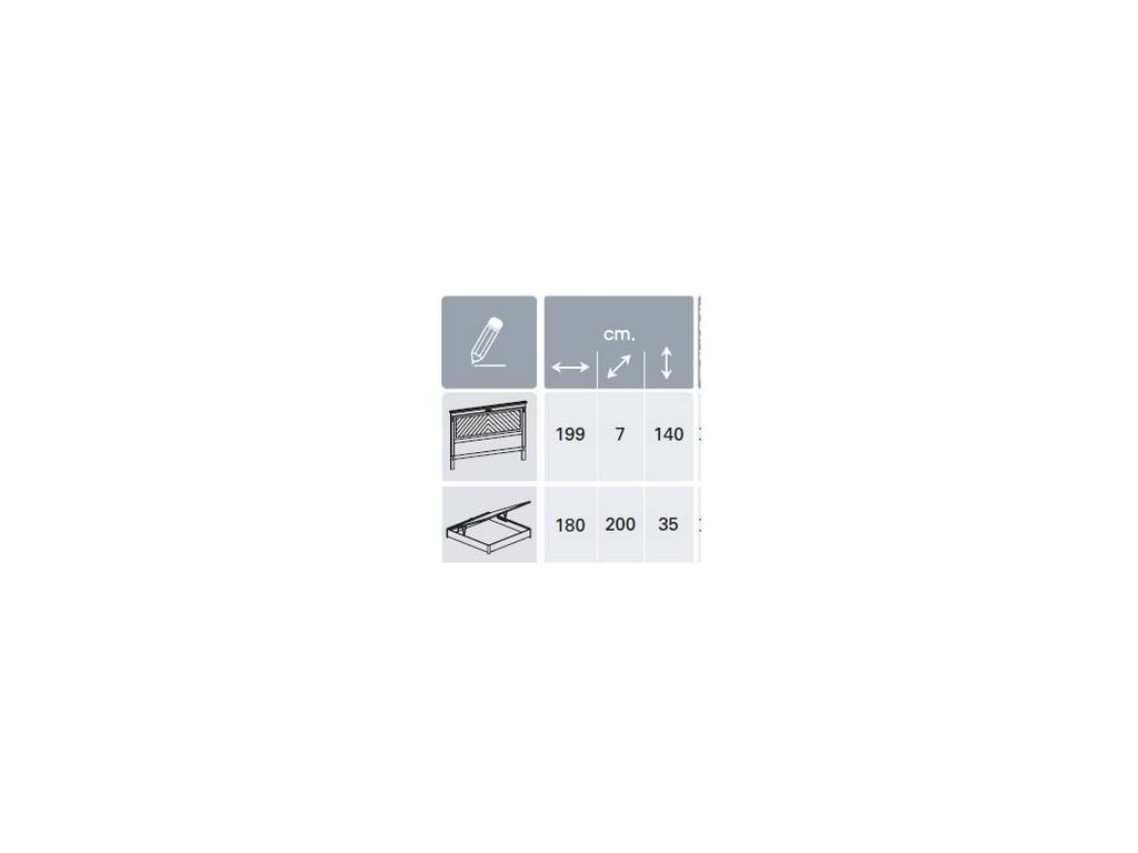 Panamar: Classic: кровать 180х200 с подъемным механизмом  (орех)