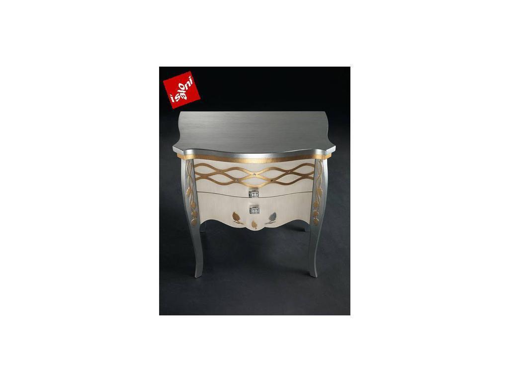 Carpanelli: Blanca: тумба прикроватная  (laccato, foglia oro)
