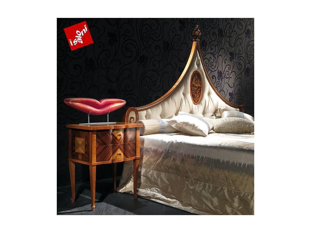 Carpanelli: Sissi: кровать  180х200 (шпон клен, палисандр)
