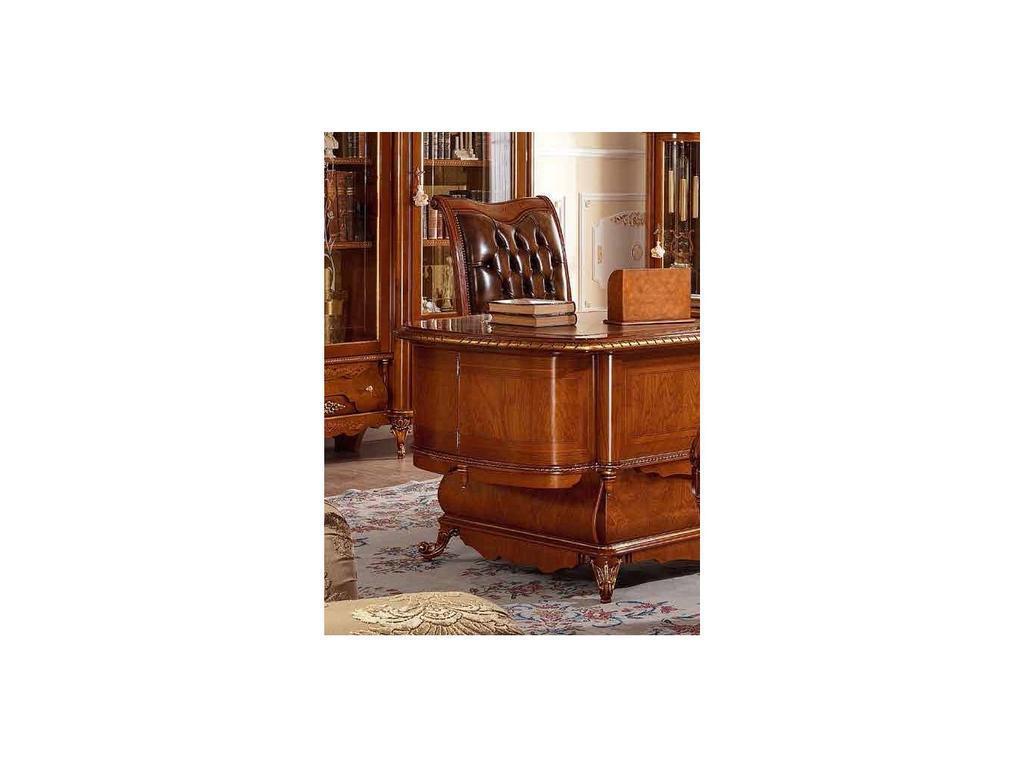 F.lli Pistolesi: Manuel: кресло для кабинета  (noce, кожа)