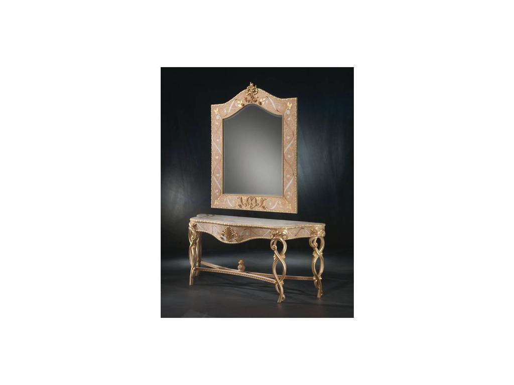 Carpanelli: Vanity: зеркало настенное  (натуральное дерево, золото)