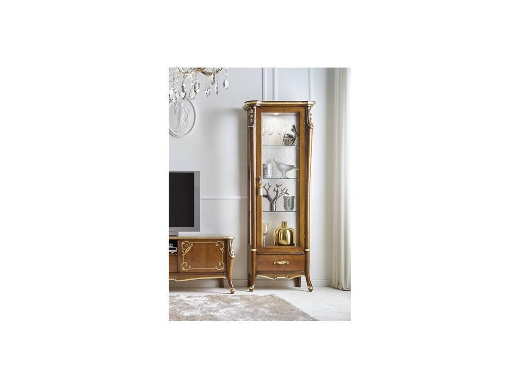 Italexport Италэкспорт: Sfumature: витрина 1 дверная правая  (вишня)