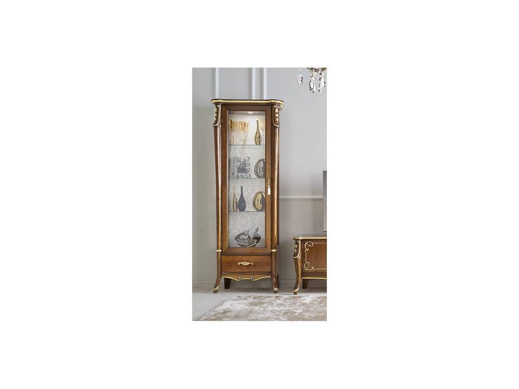 Italexport Италэкспорт: Sfumature: витрина 1 дверная левая  (вишня)