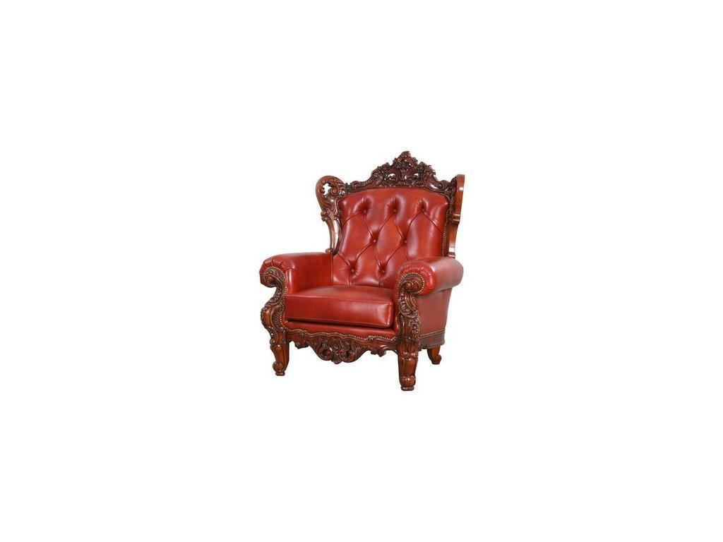Alberto Grani: Middle: кресло  (красное дерево, кожа)