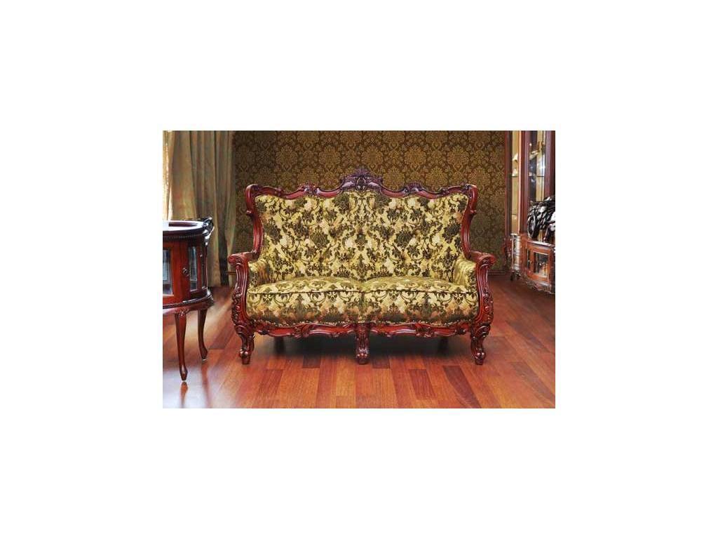 Alberto Grani: Lite: диван 2-х местный  (красное дерево) ткань