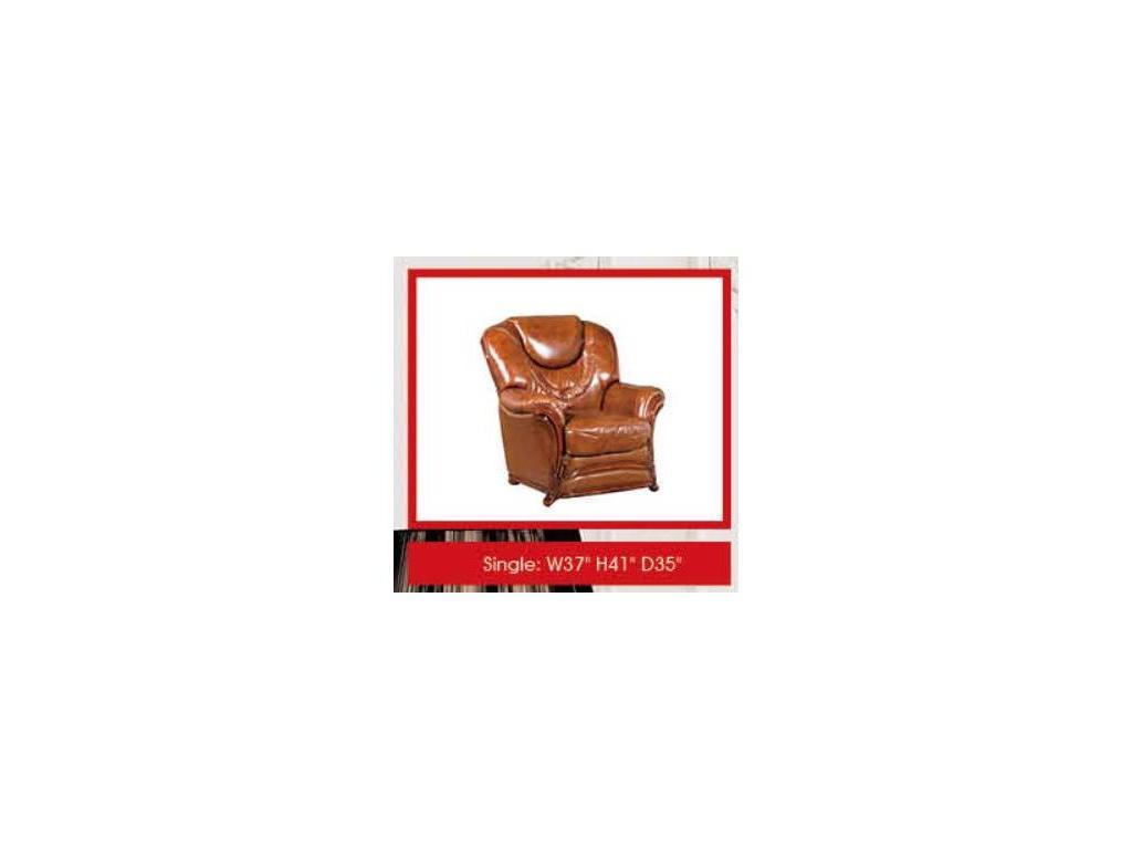 Dupen: кресло  кожа ESF 49 (кожа ESF 49)