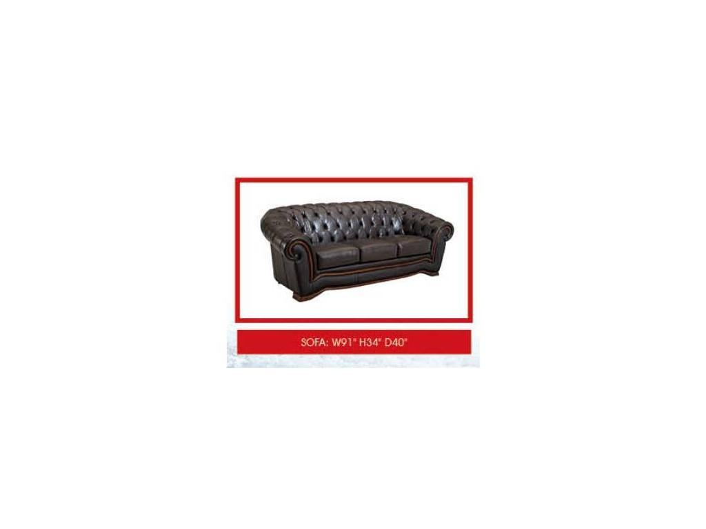 Dupen: диван 3-местный  раскладной (кожа SWH 37)