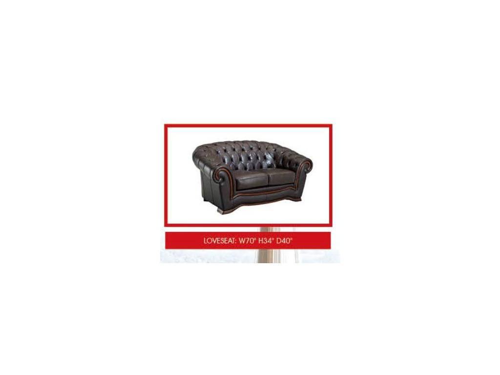 Dupen: диван 2-х местный  (кожа SWH 37)