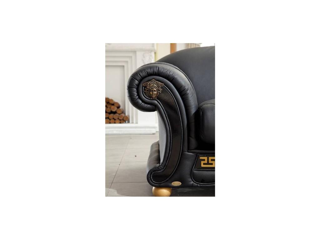ESF: Versace: диван 3-местный раскладной (черный)